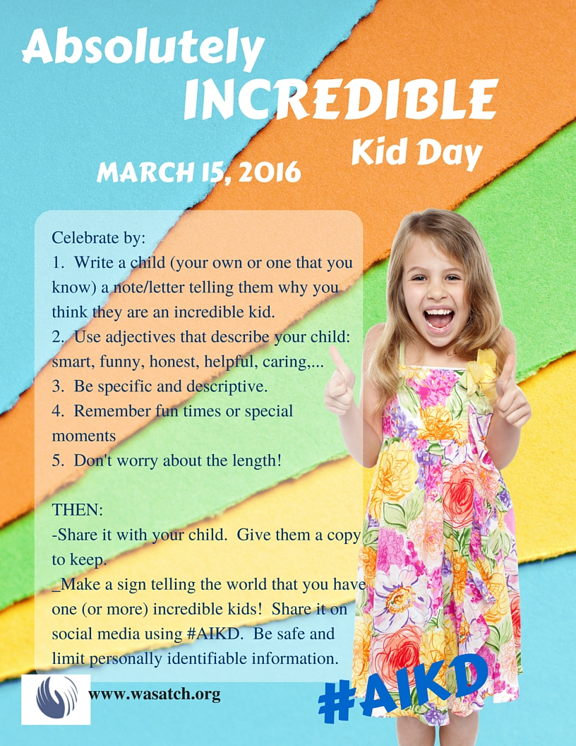 Absolutely Incredible Kid Day Letter Sample