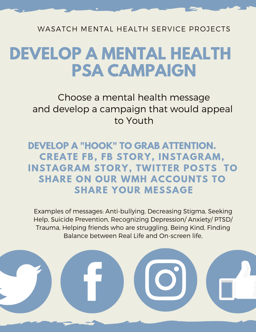 Mental Health PSA Campaign flyer