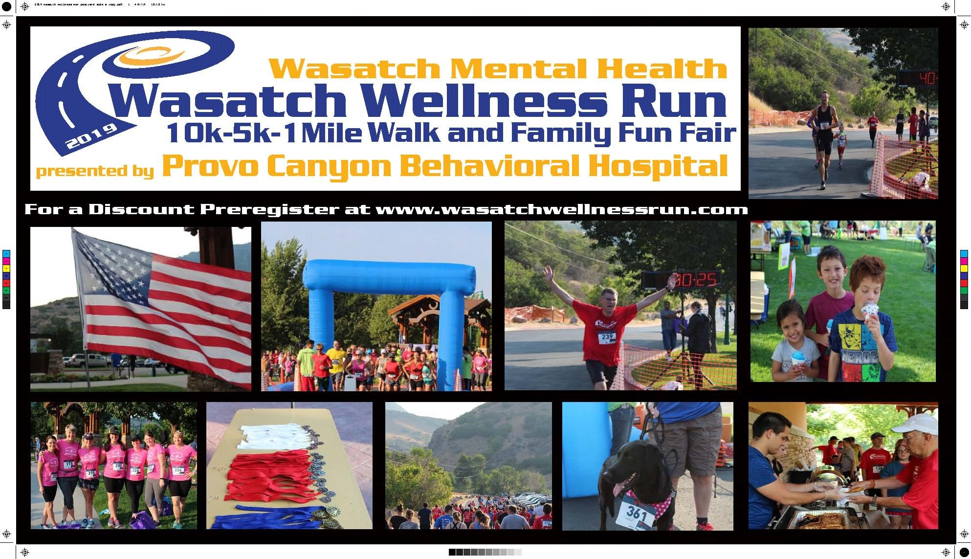 Wasatch Wellness Race flyer, Provo