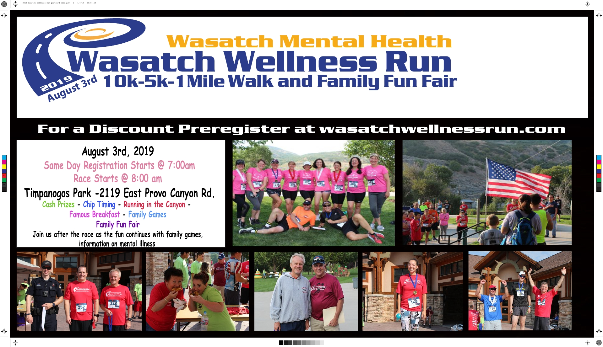 Wasatch Wellness Run flyer, p 1, Provo