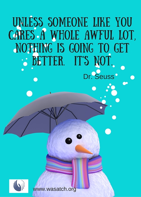 Unless someone like youcares a whole awful lot, nothing is going to get better. It's Not.