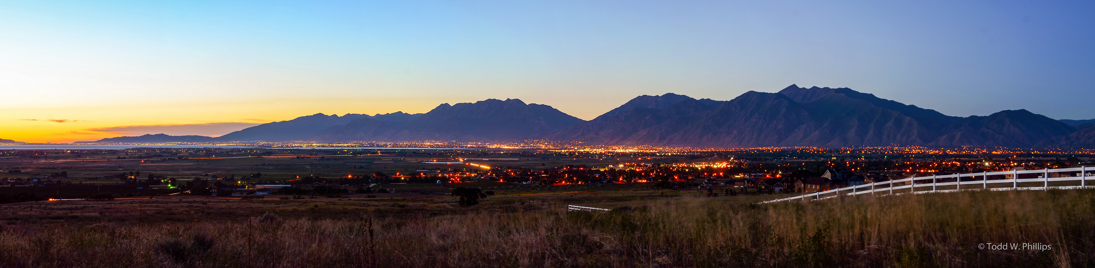 Provo Mountains at Sunset
