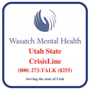 Utah State Crisis Line graphic (800) 273-TALK (8255)