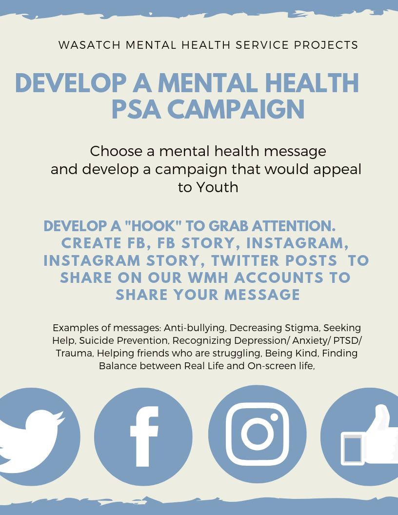 Mental Health PSA Campaign flyer