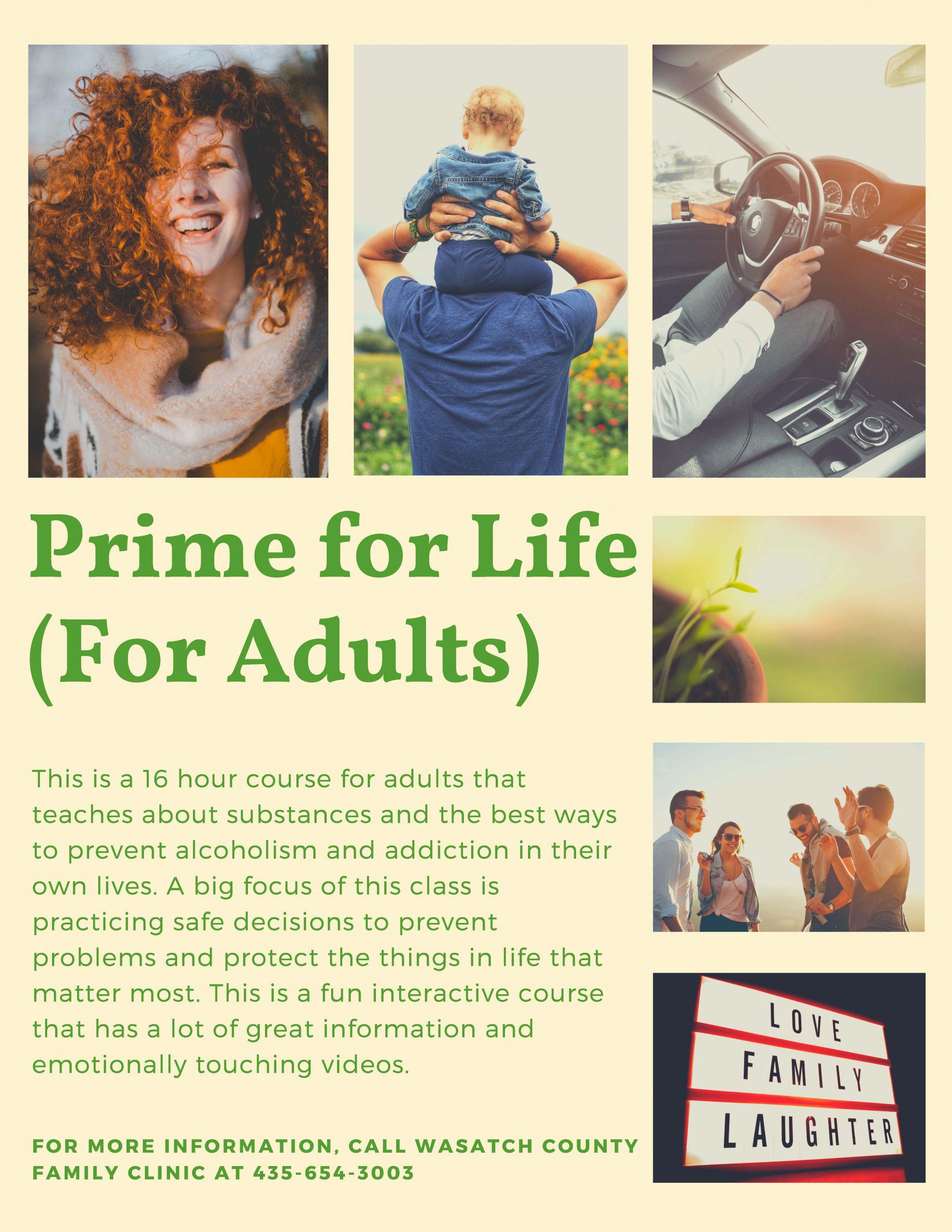 Prime for Life flyer