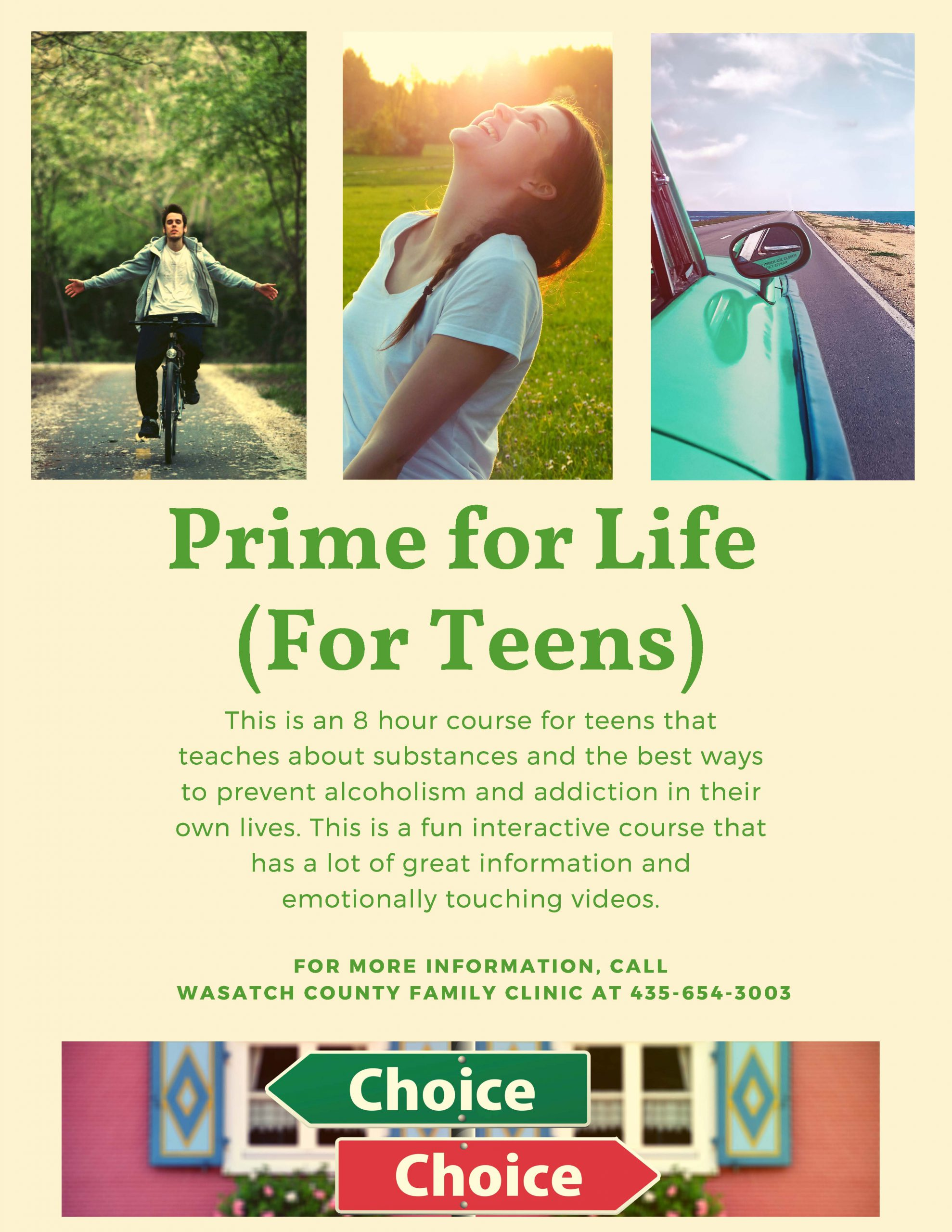 Prime for Life (teens) Flyer