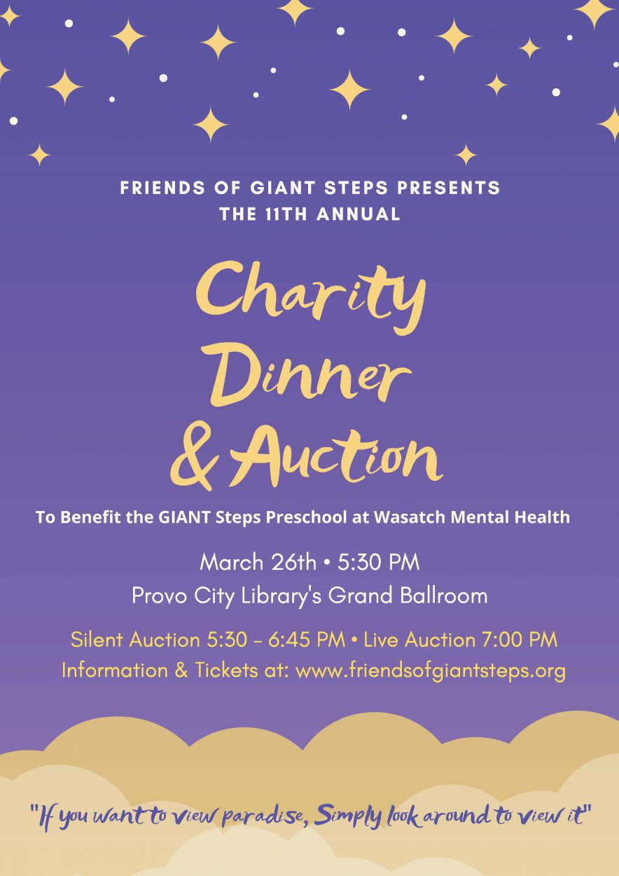 2020 Giant Steps Auction Flyer