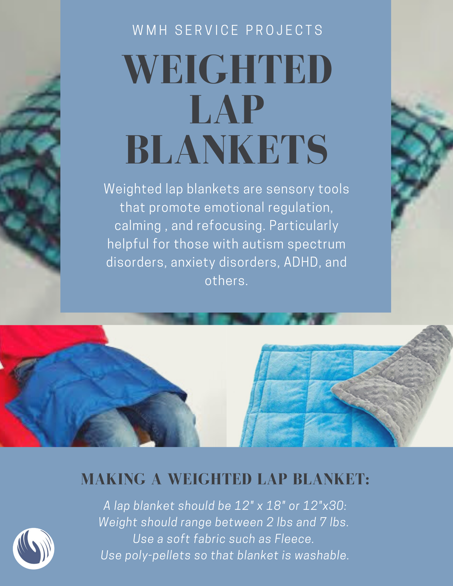 Weighted Lap Blanket project flyer
