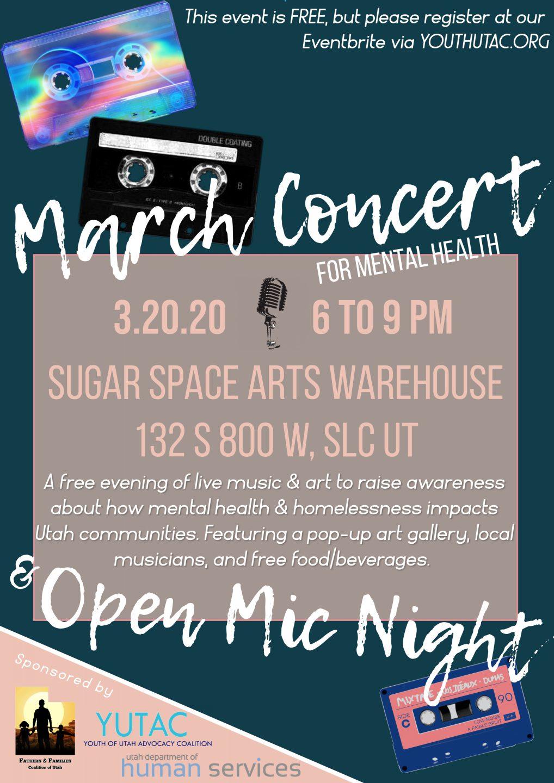 March Concert for Mental Health flyer