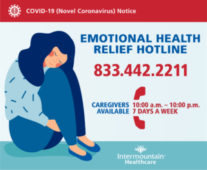 Emotional Health Relief Hotline (833) 442-2211