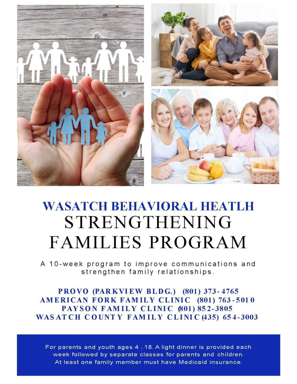 Strengthening Families Flier