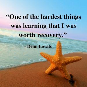 Recovery Quote- Demi Lovato